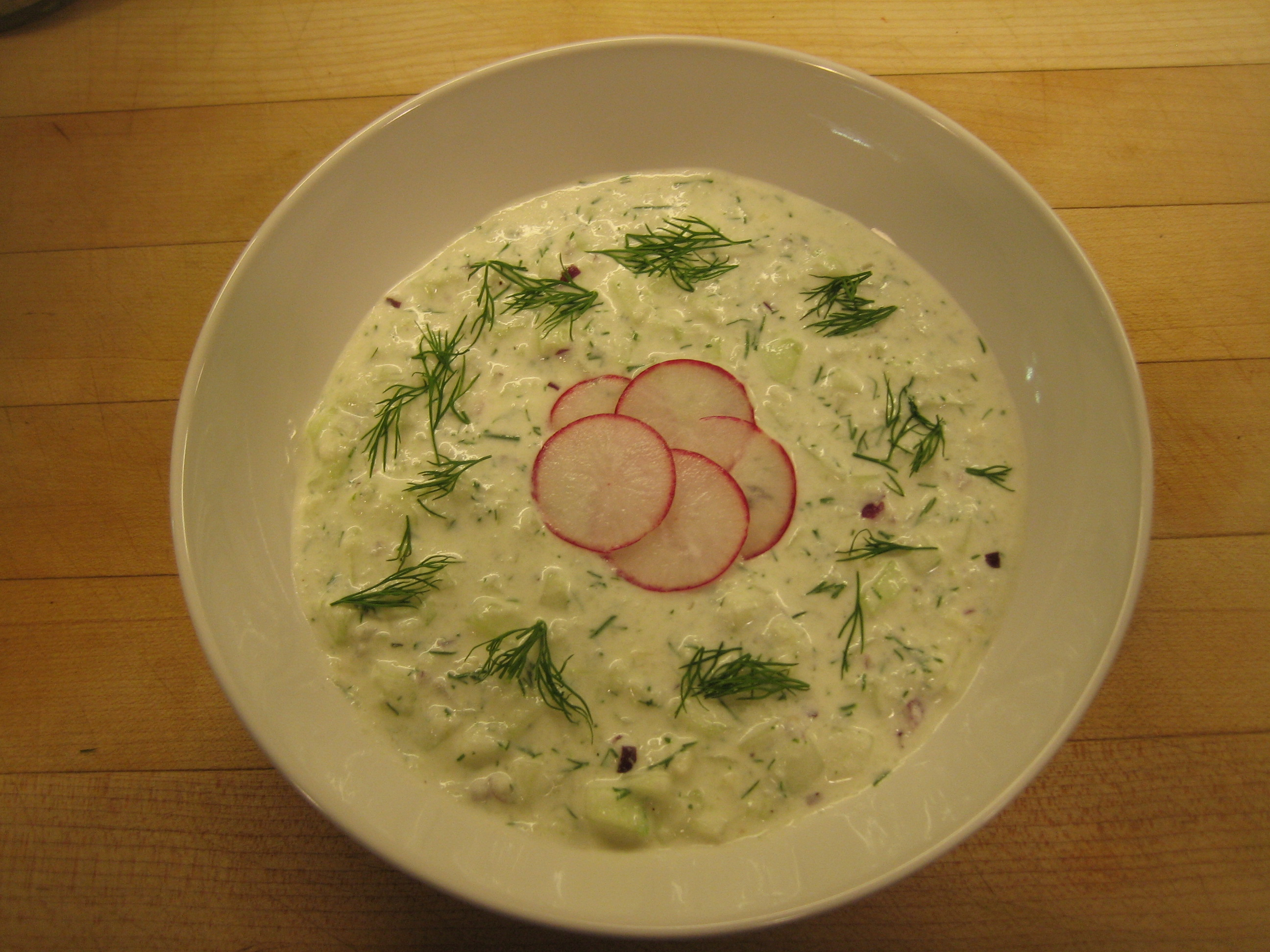 Cold Cucumber-Yogurt Soup with Dill | At Home By Steve Poses Blog